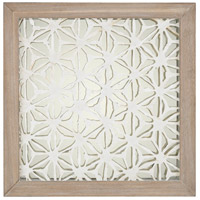 Dimond Home 168-004 Fibers-On-Foil Natural Washed Wood Tone and Silver Wall Art thumb