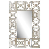 D-Pattern 47 X 32 inch Clear and Gold Wall Mirror Home Decor, Rectangular