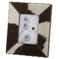 Dimond Home 173033 Faux Pony 9 X 7 inch Picture Frame in Holstein, 4x6, 4x6 thumb