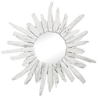 Chinook 35 X 35 inch White Wall Mirror Home Decor
