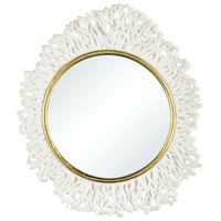 Dimond Home 2182-040 Coconut Creek 22 X 20 inch White and Gold Wall Mirror thumb