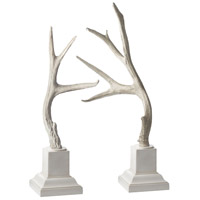 Buck Antlers Cream Ornamental Accessory, White Base