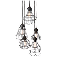 Five-Wire 5 Light 6 inch Brown Pendant Ceiling Light
