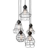 Dimond Home 225031 Wire 5 Light 6 inch Black Mini Pendant Ceiling Light