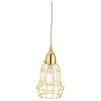 Dimond Home 225053 Barrel 1 Light 6 inch Gold Pendant Ceiling Light thumb