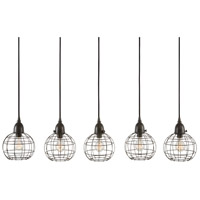 Dimond Home 225064 Wire Ball 5 Light 7 inch Brown Pendant Ceiling Light