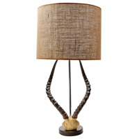 Faux Horn 31 inch 100 watt Brown Table Lamp Portable Light