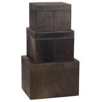 Dimond Home 284054 Faux Pony 7 X 6 inch Chestnut Box, Nested