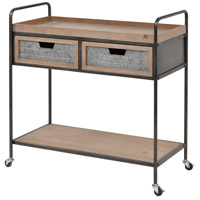 Whitepark Bay Natural Fir Wood and Galvanized Steel Trolley