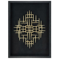 Scorch Black with Gold Wall Art