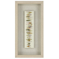 Zip Line Washed Pine with Natural Linen Wall Art