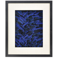 Neon Feather Blue and Black Wall Decor