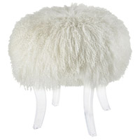 Hair Apparent White Stool Home Decor