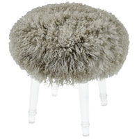 Best in Show 18 inch Gray and Clear Stool