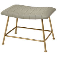 West Side 19 inch Grey Faux Leather/Gold Stool
