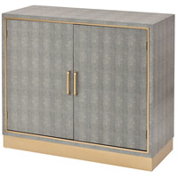 Sands Point Grey and Gold Cabinet, 2-Door