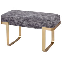 Dimond Home 3169-103 London Town Grey Chenille and Gold Bench