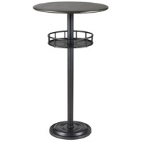 Parton Dark Pewter and Galvanized Steel Bar Table