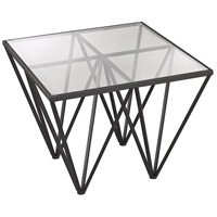 Geometric 26 X 26 inch Dark Bronze Side Table Home Decor
