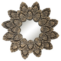 Petal 42 X 42 inch Muted Arabica Gold Mirror Home Decor