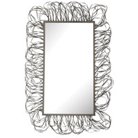 Scribble 58 X 39 inch Pewter Mirror Home Decor