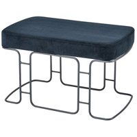 Interlinked Deep Navy and Grey Double Bench