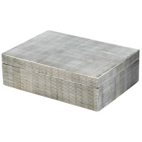 Dimond Home 344057 Pin Stripe Bone 10 X 7 inch Gray Box in Large, Large