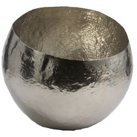Hammered 10 X 8 inch Dish in Silver, Small, Small