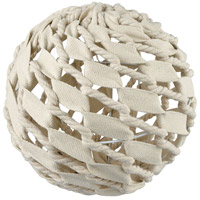 Dimond Home 351-10591 Hitchknot White Decorative Canvas Ball