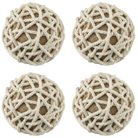 Dimond Home 351-10592/S4 Gordy White Ornamental Accessory, Set of 4