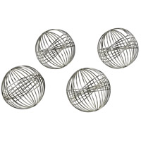 Modern Tumbleweed Silver Decorative Spheres