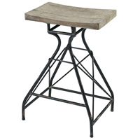 Paloma 28 inch Natural Wood and Dark Bronze Bar Stool