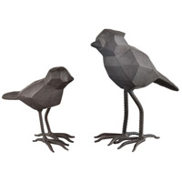 Dimond Home 351-10700/S2 Pecking Order Black Decorative Birds