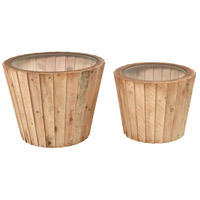 Aviation 25 inch Natural Wood Accent Table