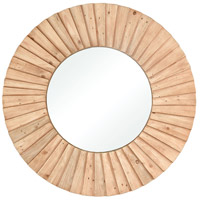 Aviation 43 X 43 inch Natural Wood Wall Mirror