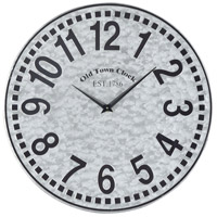 West Silver 16 X 16 inch Wall Clock