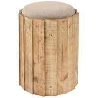 Aviation 19 inch Natural Wood and Natural Linen Stool