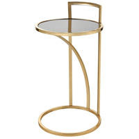 Kingsroad 15 inch Gold and Black Accent Table, Round
