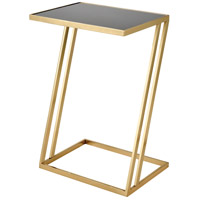 Kingsroad 24 X 16 inch Gold and Black Accent Table, Rectangular