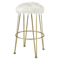 Charmed Im Sure 29 inch Gold and White Bar Stool