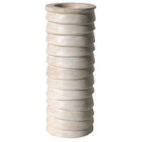 Terraced 14 X 6 inch Pillar Candle Holder in Natural Cream, Medium, Medium