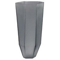 Stacked Cuts Grey Vase
