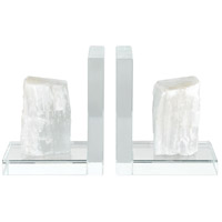 Dimond Home 4209-039/S2 Shackleton 10 X 3 inch Clear and White Bookends, Set of 2