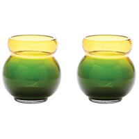 Dimond Home 464076/S2 Bubble 4 X 4 inch Votive in Green and Yellow thumb