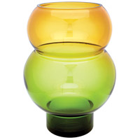 Dimond Home 464077 Bubble 16 X 12 inch Vase in Green and Yellow thumb