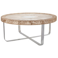 Split Rattan Natural Coffee Table
