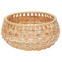 Fish Scale 17 X 9 inch Basket in Natural, Small, Small