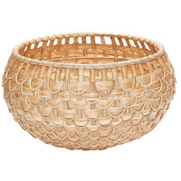 Fish Scale 22 X 12 inch Basket in Natural, Medium, Medium