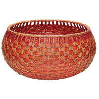 Fish Scale 27 X 14 inch Basket in Red and Orange, Large, Large