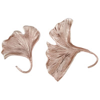 Ginkgo 7 X 7 inch Metal Wall Art in Rose Gold